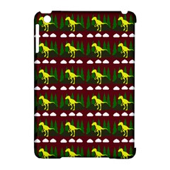 Dino In The Mountains Red Apple Ipad Mini Hardshell Case (compatible With Smart Cover)