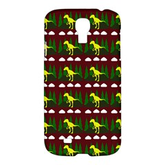 Dino In The Mountains Red Samsung Galaxy S4 I9500/i9505 Hardshell Case