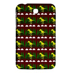 Dino In The Mountains Red Samsung Galaxy Tab 3 (7 ) P3200 Hardshell Case