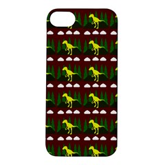 Dino In The Mountains Red Apple Iphone 5s/ Se Hardshell Case