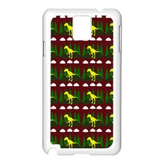 Dino In The Mountains Red Samsung Galaxy Note 3 N9005 Case (white)