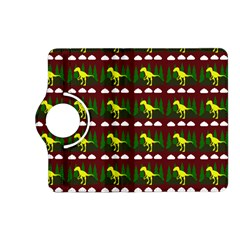 Dino In The Mountains Red Kindle Fire Hd (2013) Flip 360 Case