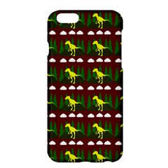 Dino In The Mountains Red Apple Iphone 6 Plus/6s Plus Hardshell Case