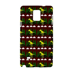 Dino In The Mountains Red Samsung Galaxy Note 4 Hardshell Case