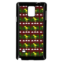 Dino In The Mountains Red Samsung Galaxy Note 4 Case (black)