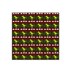 Dino In The Mountains Red Satin Bandana Scarf