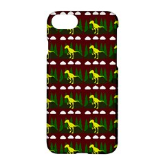 Dino In The Mountains Red Apple Iphone 7 Hardshell Case
