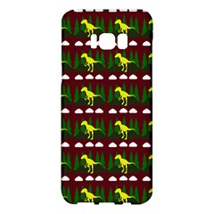 Dino In The Mountains Red Samsung Galaxy S8 Plus Hardshell Case