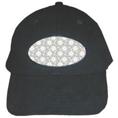 Daisy Dots Grey Black Cap