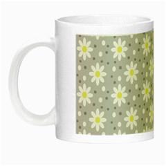 Daisy Dots Grey Night Luminous Mugs