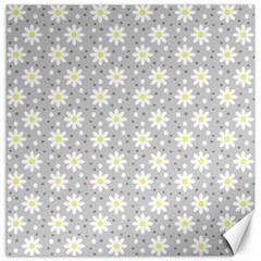 Daisy Dots Grey Canvas 20  X 20