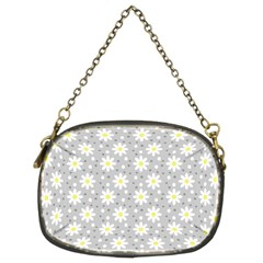 Daisy Dots Grey Chain Purses (two Sides)