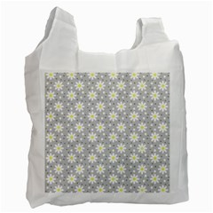 Daisy Dots Grey Recycle Bag (two Side)