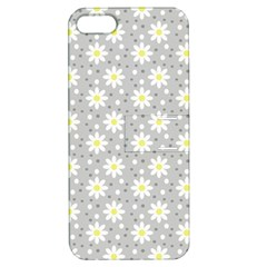 Daisy Dots Grey Apple Iphone 5 Hardshell Case With Stand