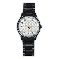 Daisy Dots Grey Stainless Steel Round Watch
