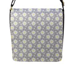 Daisy Dots Grey Flap Messenger Bag (l)