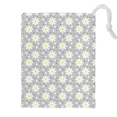 Daisy Dots Grey Drawstring Pouches (xxl)