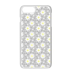 Daisy Dots Grey Apple Iphone 7 Plus Seamless Case (white)