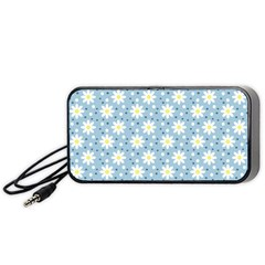 Daisy Dots Light Blue Portable Speaker