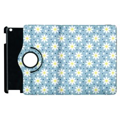 Daisy Dots Light Blue Apple Ipad 3/4 Flip 360 Case