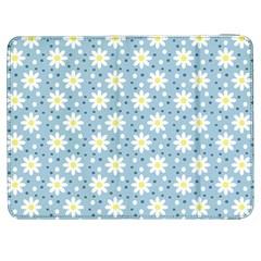 Daisy Dots Light Blue Samsung Galaxy Tab 7  P1000 Flip Case