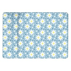 Daisy Dots Light Blue Samsung Galaxy Tab 10 1  P7500 Flip Case
