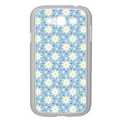 Daisy Dots Light Blue Samsung Galaxy Grand Duos I9082 Case (white)