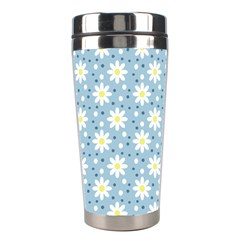 Daisy Dots Light Blue Stainless Steel Travel Tumblers