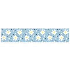 Daisy Dots Light Blue Small Flano Scarf
