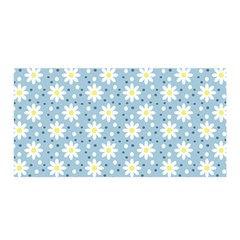 Daisy Dots Light Blue Satin Wrap