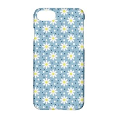Daisy Dots Light Blue Apple Iphone 7 Hardshell Case
