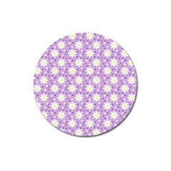 Daisy Dots Lilac Magnet 3  (round)