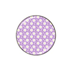 Daisy Dots Lilac Hat Clip Ball Marker (10 Pack)