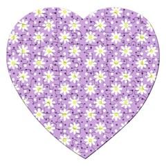 Daisy Dots Lilac Jigsaw Puzzle (heart)