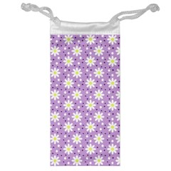 Daisy Dots Lilac Jewelry Bag