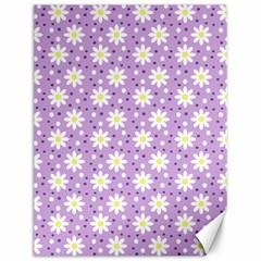 Daisy Dots Lilac Canvas 12  X 16