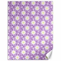Daisy Dots Lilac Canvas 18  X 24