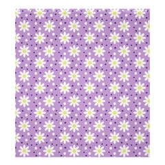 Daisy Dots Lilac Shower Curtain 66  X 72  (large)