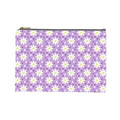 Daisy Dots Lilac Cosmetic Bag (large)