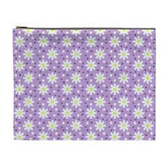 Daisy Dots Lilac Cosmetic Bag (xl)