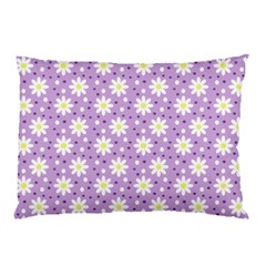 Daisy Dots Lilac Pillow Case (two Sides)