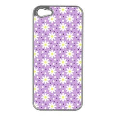 Daisy Dots Lilac Apple Iphone 5 Case (silver)