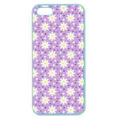 Daisy Dots Lilac Apple Seamless Iphone 5 Case (color)
