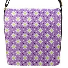 Daisy Dots Lilac Flap Messenger Bag (s)