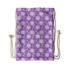 Daisy Dots Lilac Drawstring Bag (small)