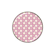 Daisy Dots Pink Hat Clip Ball Marker (10 Pack)
