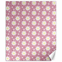 Daisy Dots Pink Canvas 8  X 10