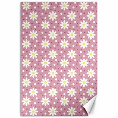 Daisy Dots Pink Canvas 20  X 30