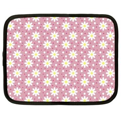 Daisy Dots Pink Netbook Case (large)