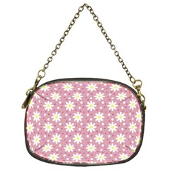 Daisy Dots Pink Chain Purses (two Sides)